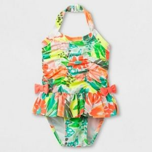 2/$10 Cat & Jack Floral One Piece Swimsuit | 2T